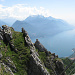 Dalla ferrata del monte Grona verso Bellagio e il ramo di lecco del lago di Como