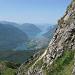 dalla ferrata il lago di Piano e di Lugano