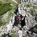 an der ersten Felsstufe des Grates vom Hebertaljoch Richtung Büchsentaljoch und Upsspitze
