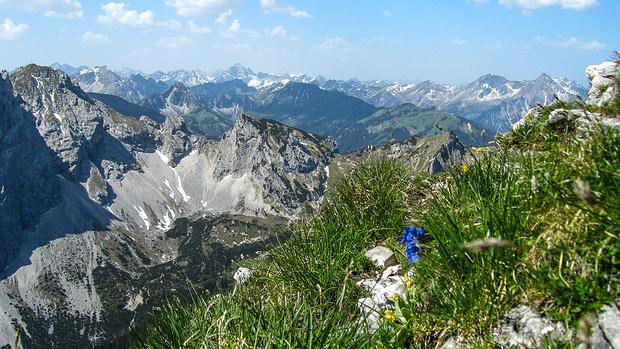 Gipfelblick von der Großen Schlicke - was für ein Panorama!