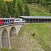 In der Abfahrt von Alp Grüm nach Cavaglia
