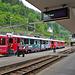 Im Bahnhof Poschiavo wiederum die unermüdlichen Triebwagen