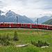 Einfahrt in die Station Alp Grüm