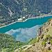Tief unten der Lago di Poschiavo