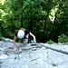 Ausstieg aus der Vertikalen - beim Verbindungs-Felsband zum Aberndrotsteig.... und ....<br />(B/C)