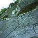 Nach kurzer Verschnauf- und Trinkpause gehts weiter in den Steilen Fels.<br />(B/C)