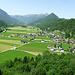 Am 2. Bänkle ist die Aussicht über Schnepfau hinweg zum Dornbirner First herrlich (grün)....und definitiv unverbaubar.