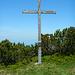 Gipfelkreuz auf der N-Schulter des Alpkopfs.