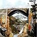 <b>Il ponte costruito da Pocobelli in un acquarello del 1824, probabilmente di Richard La Nicca. </b>