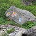 """[point11504 Bosslis Stein 1630 m]. nach links auf dem """"Normalweg"""" zur Triftbrücke, nach rechts auf dem «stotzigen Weg» hoch zur Windegghütte."""