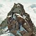 Seilschaften die von der Capanna Margherita über dem Grenzgipfel zur Dufourspitze kommen.