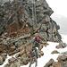 Der Hüttenzustieg und auch Abstieg erfolgt über den Klettersteig.