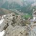 Aussicht vom Klettersteig auf Saas-Fee zurück.