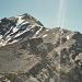 Blick zurück!<br />Der Gipfel des Scopi 3187m, mit seinem Bunker.