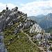 Foto zum Südgipfel während des Abstiegs.