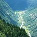 Val Vegornèss vom Aufstieg zum Pass di Piatto