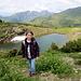 am Blausee<br />Der See liegt zwischen Sünser Joch und Portlerhorn
