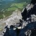 Tiefblick über die erste Leiter nach Gafadura