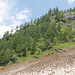 Guado del Ri della Zota presso Campo: a sx il sentiero per Robiei, a dx la traccia dell'antica via d'alpe