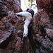 Der Kamin zum Klettern