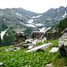 Alpe Pescim, 1860m, mit dem oberen Val Nèdro - Basal links - Cima di Nèdro rechts