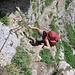 La corda fissa che precede la scala.