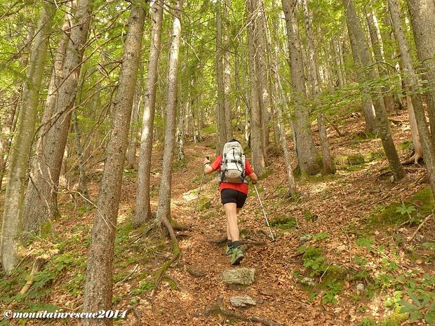 Steil führt der Weg den Berg hinauf