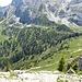 Blick vom Geiselsteinsattel auf den Weg zum Kenzensattel