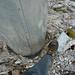 Mein Fuss auf dem Gipfelbuchbehälter – und das daneben ist wirklich das Kreuz