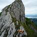 [U Sglider] beim Abstieg auf dem Chöpfenberg Ostgrat