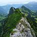 Grat und Bergspitzen