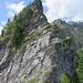 Steilstufe auf dem Weg zur Pointe Fornet