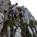 Abstieg über die erste Steilstufe Richtung Heftibode.
