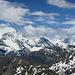 Blick vom Gipfel Pointes de Tsavolire (3026 m) nach O