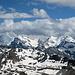 Blick vom Gipfel Pointes de Tsavolire (3026 m) nach SO
