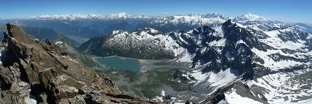 Panorama Walliser Alpen - Mont-Blanc Gruppe