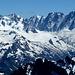 Berge über dem Glacier d'Argientière und dem Glacier du Tour