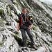 Andi beim Zugang zu Leiter und Start des Klettersteigs.