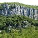 Blick zum Klettergebiet Chaulet