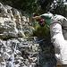 Steckenberg: Brüchiges Gestein an der Schlüsselstelle