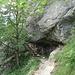 Abstieg durch den Knofelebengraben.