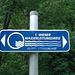 Beim Start des 1. Wiener Wasserleitungsweges gegenüber von Kaiserbrunn.