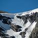 Heikler Abstieg über die fast senkrechte Wechte beim Col du Mont Rouge