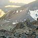 Aufstieg am nächsten Morgen, zusammen mit [u Sputnik]. Unten der Col de Lire Rose mit dem Biwak