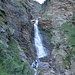 Wasserfall des Ria di Ri, hier geht es links hoch zur Alpe del Sentiero