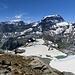 nochmals die beiden Stars Bifertenstock und Tödi, unten links neben dem See erreicht man die Moränen im Abstieg