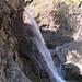 La partie supérieure de la cascade.