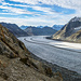 Der große Aletschgletscher von der Konkordiahütte aus gesehn