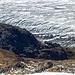 Die Finsteraarhornhütte (3048 m) vom Gipfel