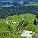 Blick hinunter zur Alp Ällgäuli